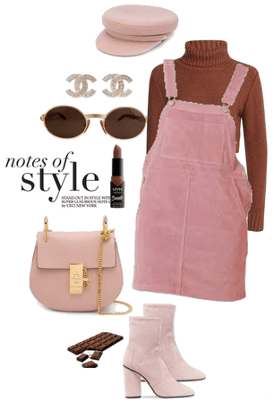 pink + chocolate brown!