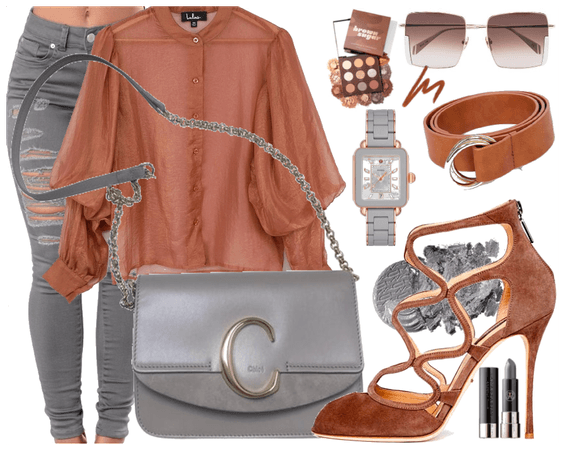 Grey and Brown