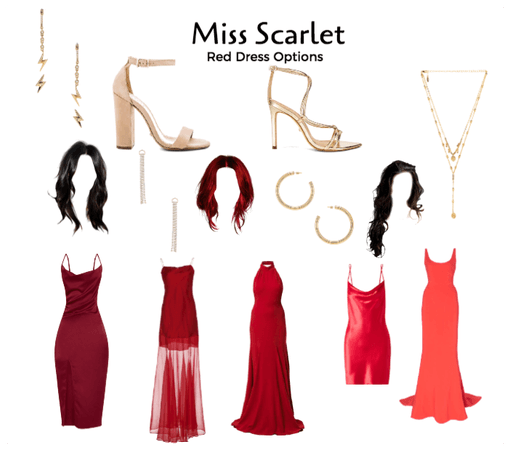 Miss Scarlet, Red Dress Options