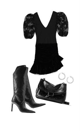 all in black (zara)