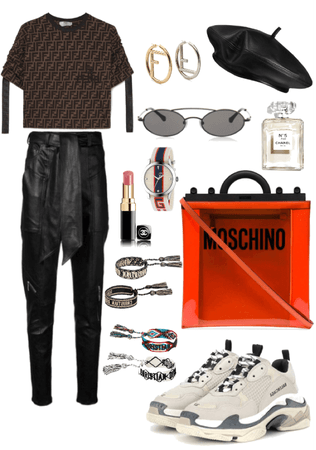 Staring: Leather