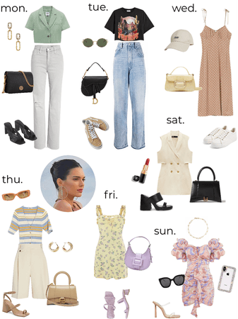 Kendall Jenner's weekly outfit - summer 1