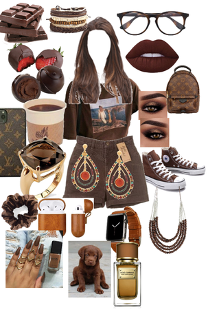 brown outfit outrageous