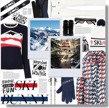 ski bunny mountain ❤️💙