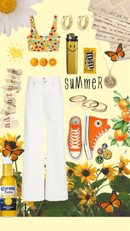 yellow/orange summer outfit
