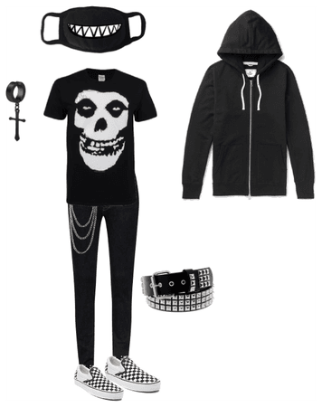 Emo punk outfit