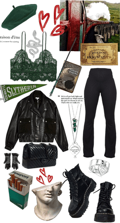 a slytherin on their way to hogwarts