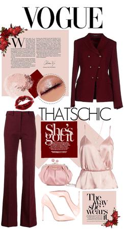 Maroon - Blush Pink