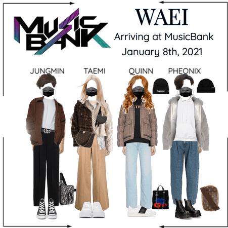 WAEI II ARRIVING AT MUSIC BANK