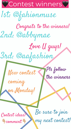 💕💕💕Contest Winners!!!💕💕💕