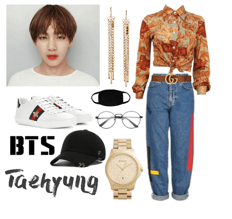 Taehyung airport inspired outfit