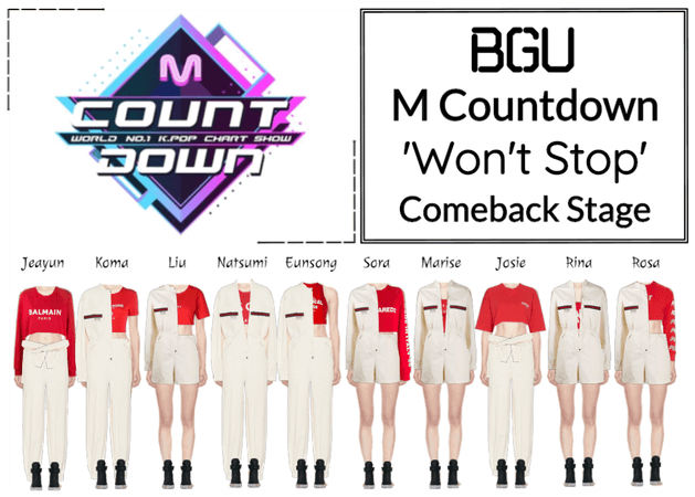 BGU M Countdown 'Won't Stop' Comeback Stage