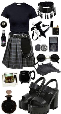 Grunge Black Outfit Set