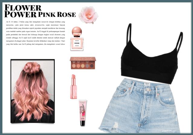 flower power pink rose