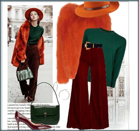 Orange Coat Fur