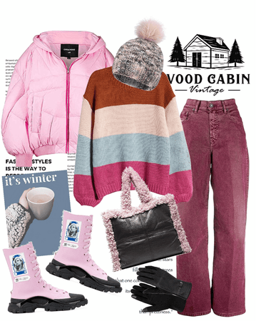Winter Cabin 2020 Pretty in Pink!