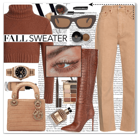 Nude fall outfit