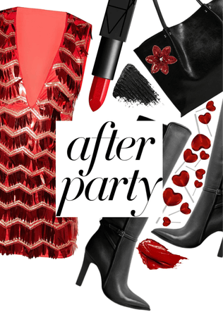 after party in red and black