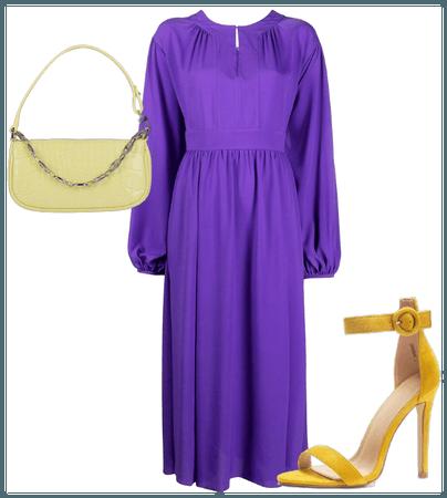 Complementario amarillo y violeta