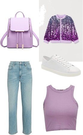 purple but casual