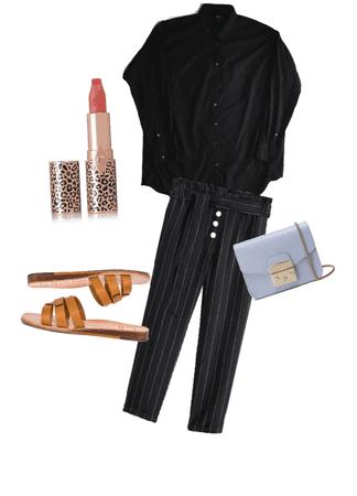 blusa negra mediana