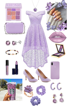 light purple dress aesthetic