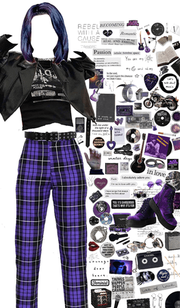 the color deep purple as a person