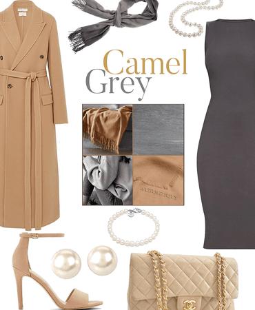 camel + grey