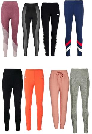 Leggings and regular pants!