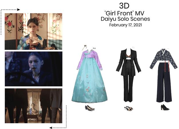 {3D}Daiyu Solo Scenes 'Girl Front' MV