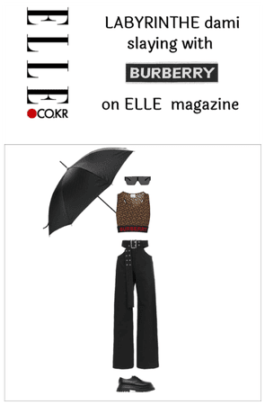 Dami 'a Burberry 2nd outfit on ELLE magazine