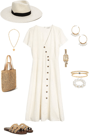 Basic beige dress
