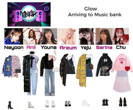 Glow Arriving at music bank