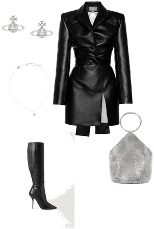 leather date outfit