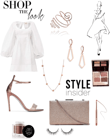 white and rosegold