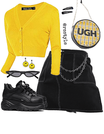 yellow smiley fit
