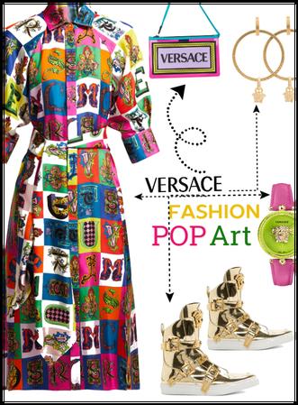 Versace Head 2 Toe/Spring Dress/PopArt