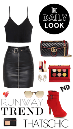 Black and red chic & stylish combo