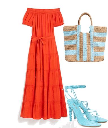 Summer - Orange and Blue