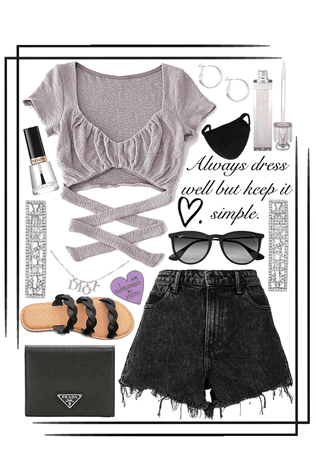 simple dressy outfit🖤💜