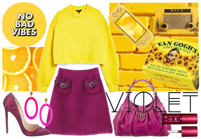 Color Blocking - Yellow & Violet