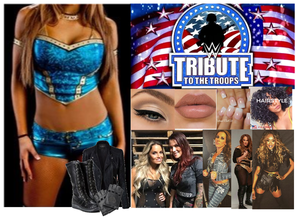 8 Women Tag Team Match (Tribute to the Troops)