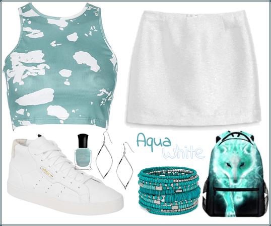 Aqua & White