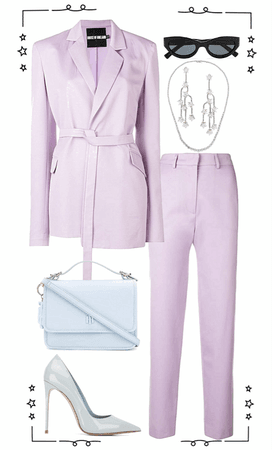 light purple formal look