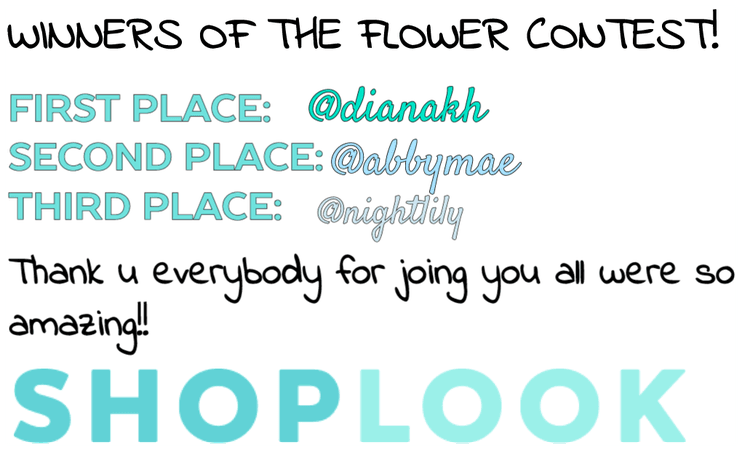 Winners of the flower contest!