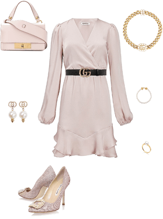 pearls -gucci and pink dresses