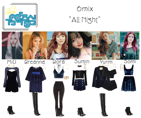 "《6mix》Show! Music Core ""All Night"""