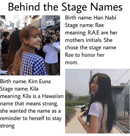Behind the stage names