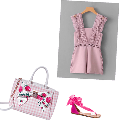 Pastel pink and hot pink