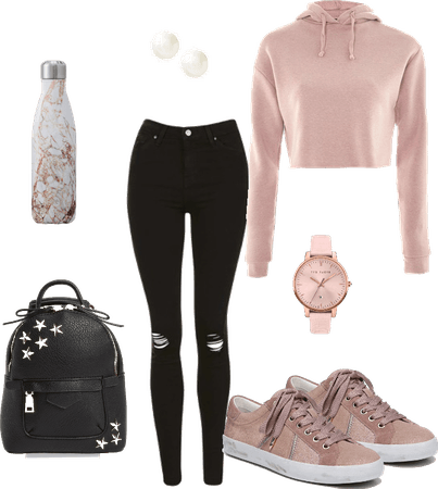 Pink and Casual School Outfit (Affordable)